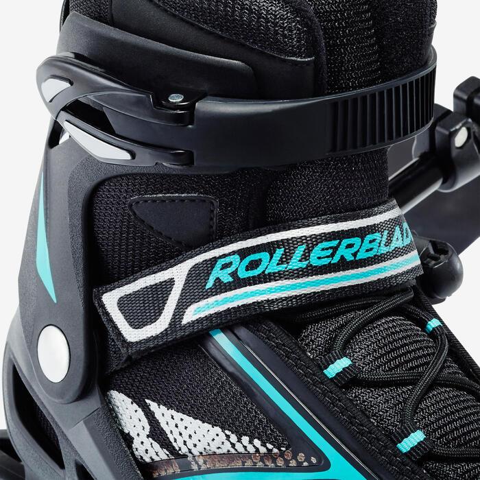 Roller fitness femme BRAVO noir turquoise - 1333140