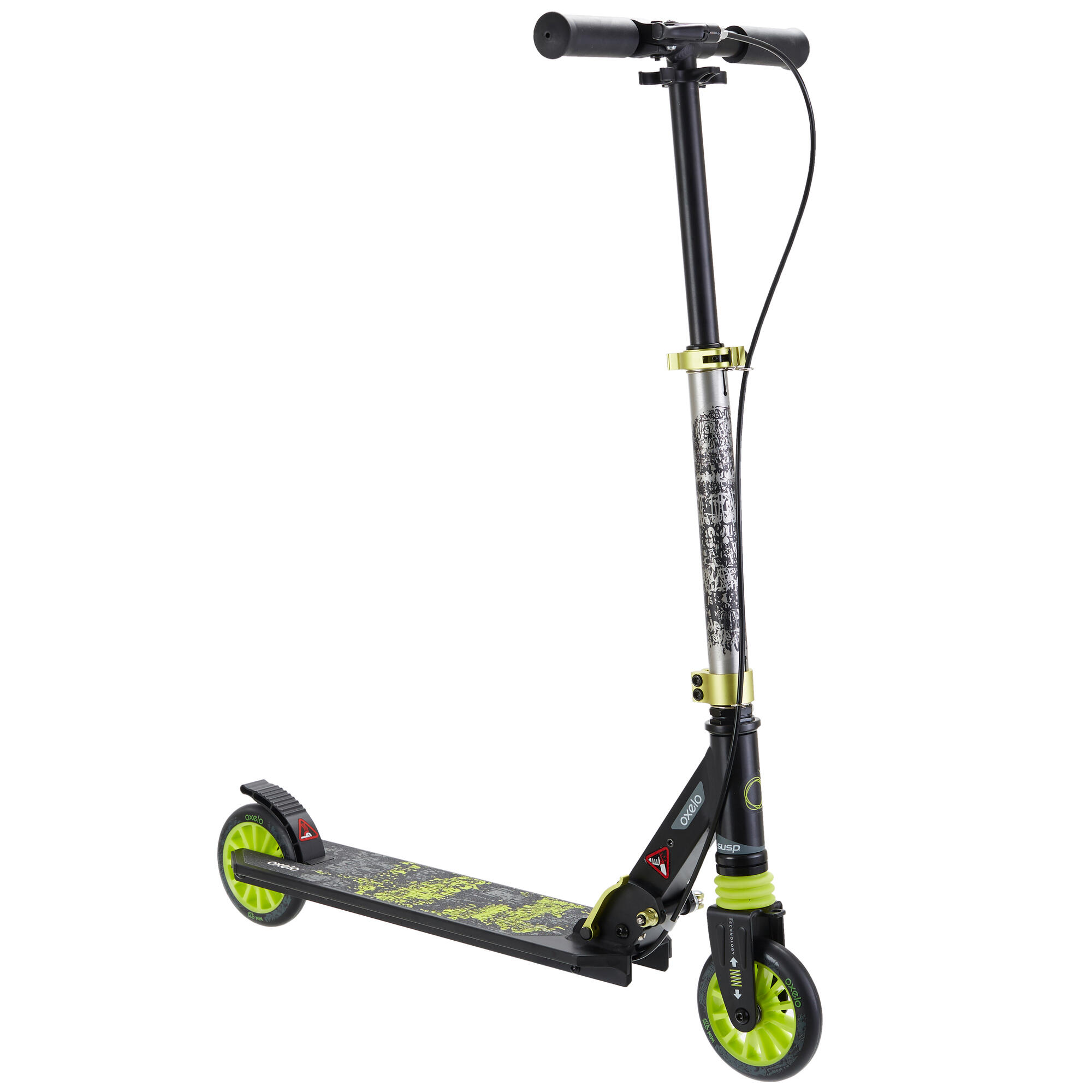 Mid 5 Kids' Scooter with Handlebar Brake and Suspension