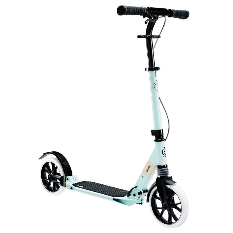 ADULT SCOOTERS Scootering - Town 7XL Scooter - Light Green OXELO - Scooters