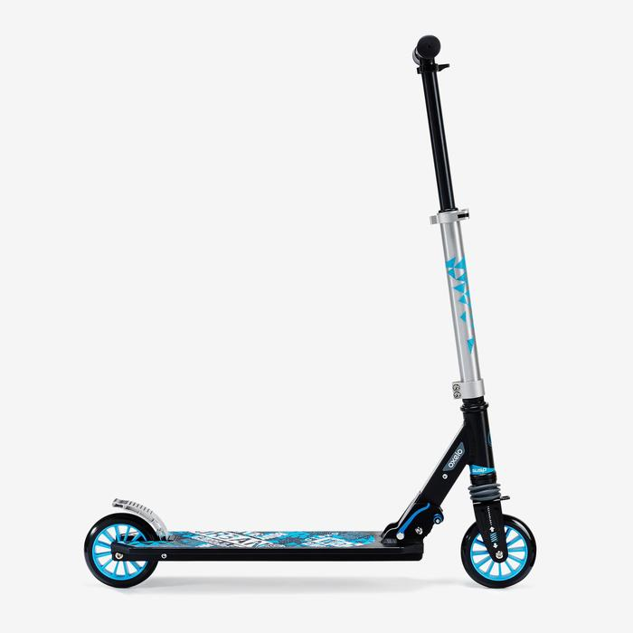 Mid3 Kids' Scooter with Suspension - Black/Blue