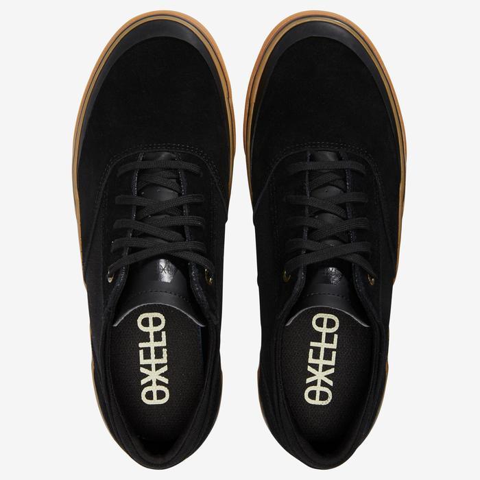 Skateschuh Sneaker Vulca 500 Low Erwachsene schwarz/gummi