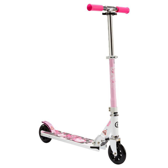 Patinete Scooter Oxelo MID 1 Niños Blanco/Rosa