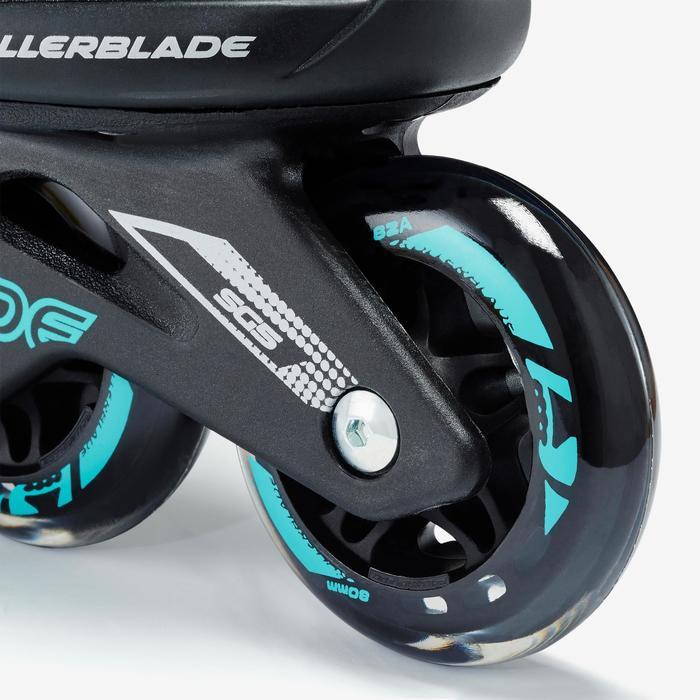 Roller fitness femme BRAVO noir turquoise - 1333180