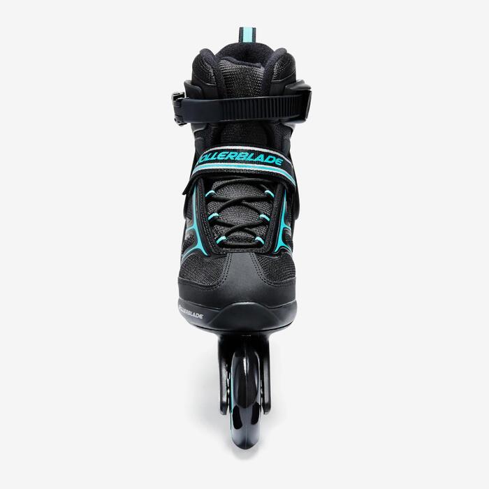 Roller fitness femme BRAVO noir turquoise - 1333187