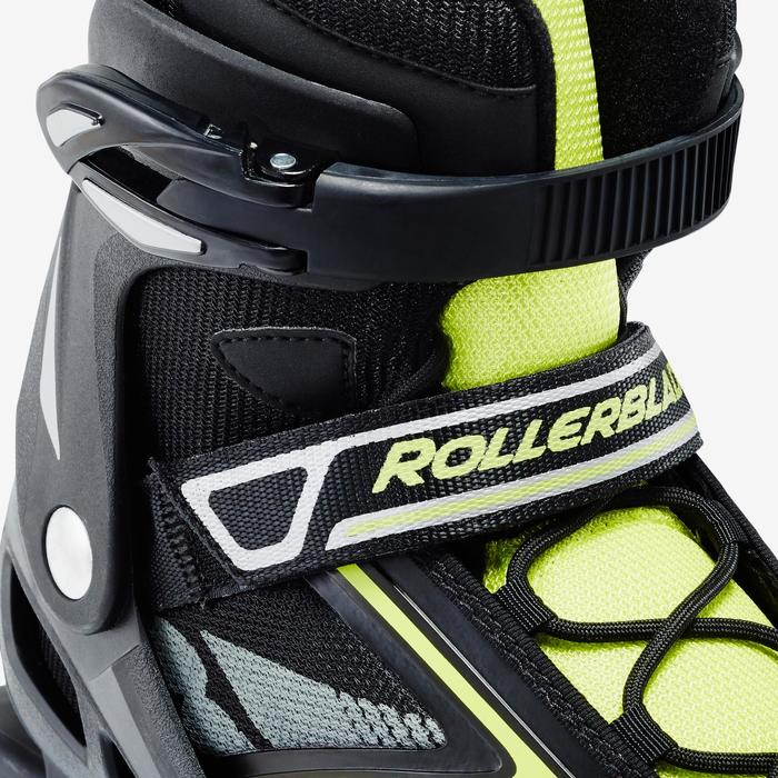 Roller fitness homme BRAVO noir jaune - 1333231