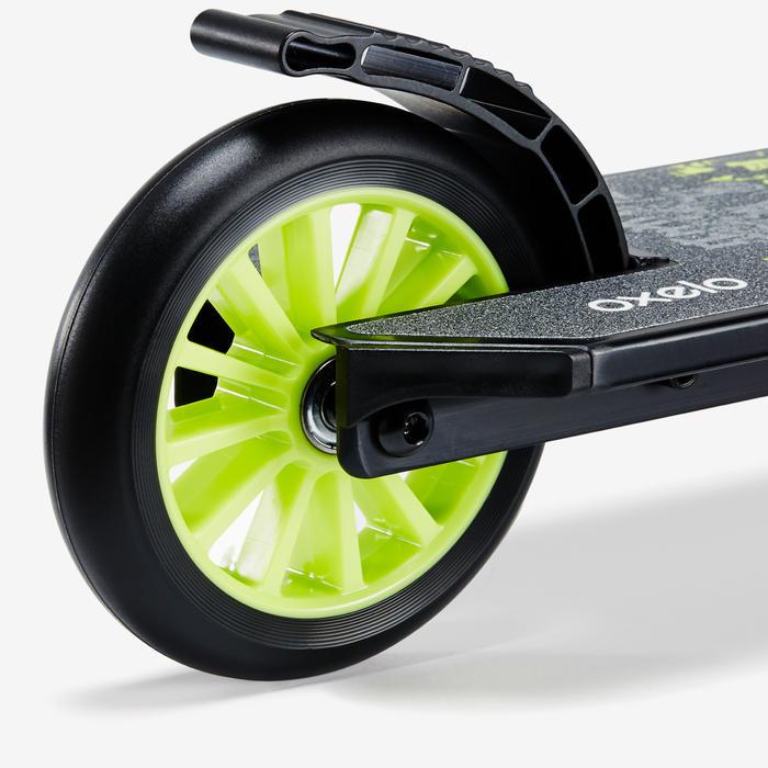 Step kinderen Mid 5 met vering en rem op stuur zwart/groen