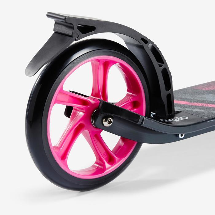 City-Roller Scooter Mid 7 mit Ständer schwarz/rosa