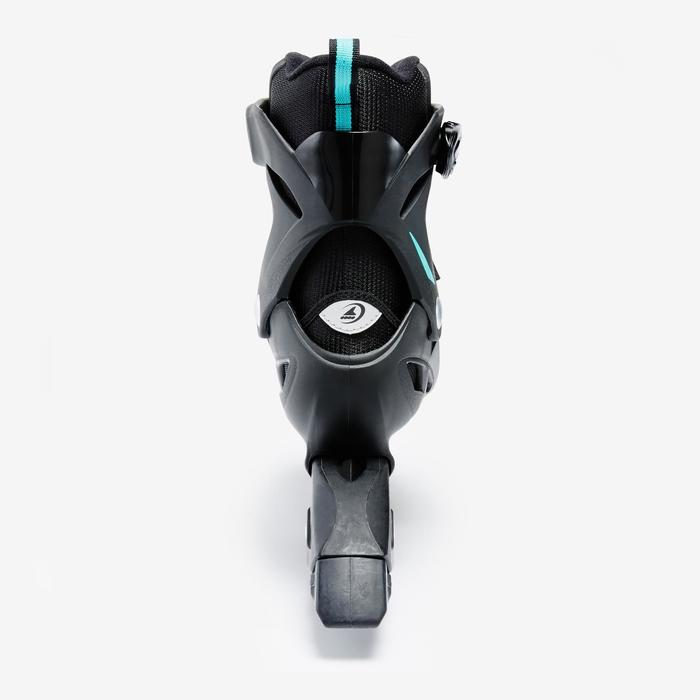 Roller fitness femme BRAVO noir turquoise - 1333269