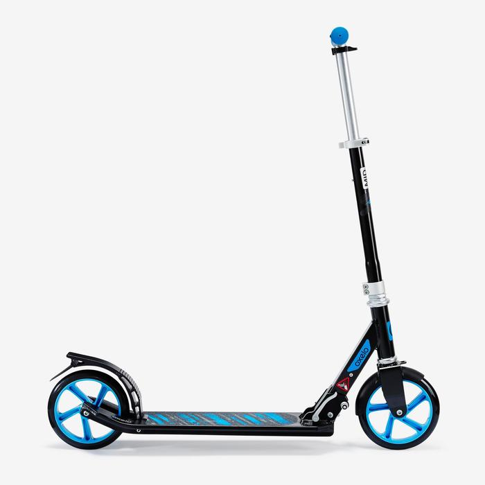 Patinete Scooter Oxelo MID 7 Niños Plegable Negro/Azul