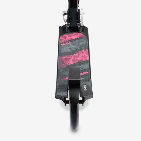 """""""Mid 7"""" paspirtukas su stovu – juodas / rožinis"""