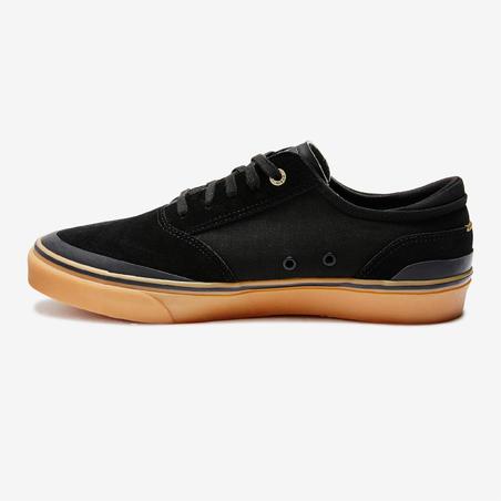 Tenis de tobillo bajo de skateboarding adulto VULCA negro