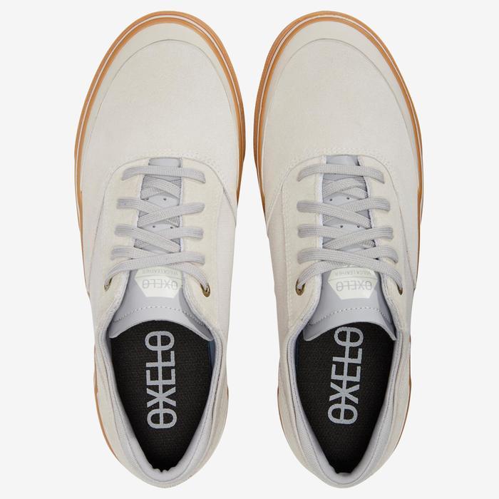 Zapatillas bajas de skateboard adulto VULCA 500 Crema / goma