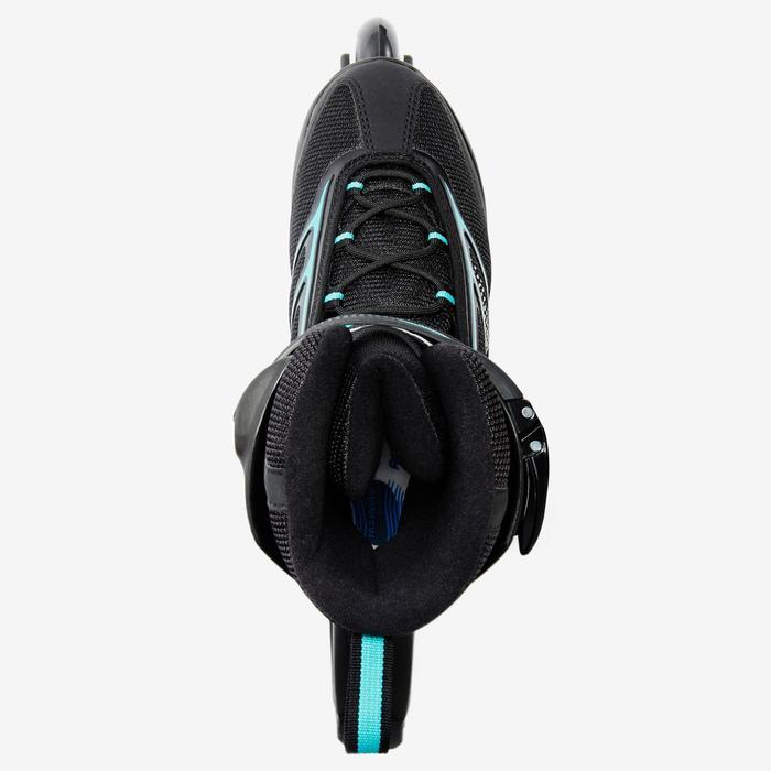 Roller fitness femme BRAVO noir turquoise - 1333428