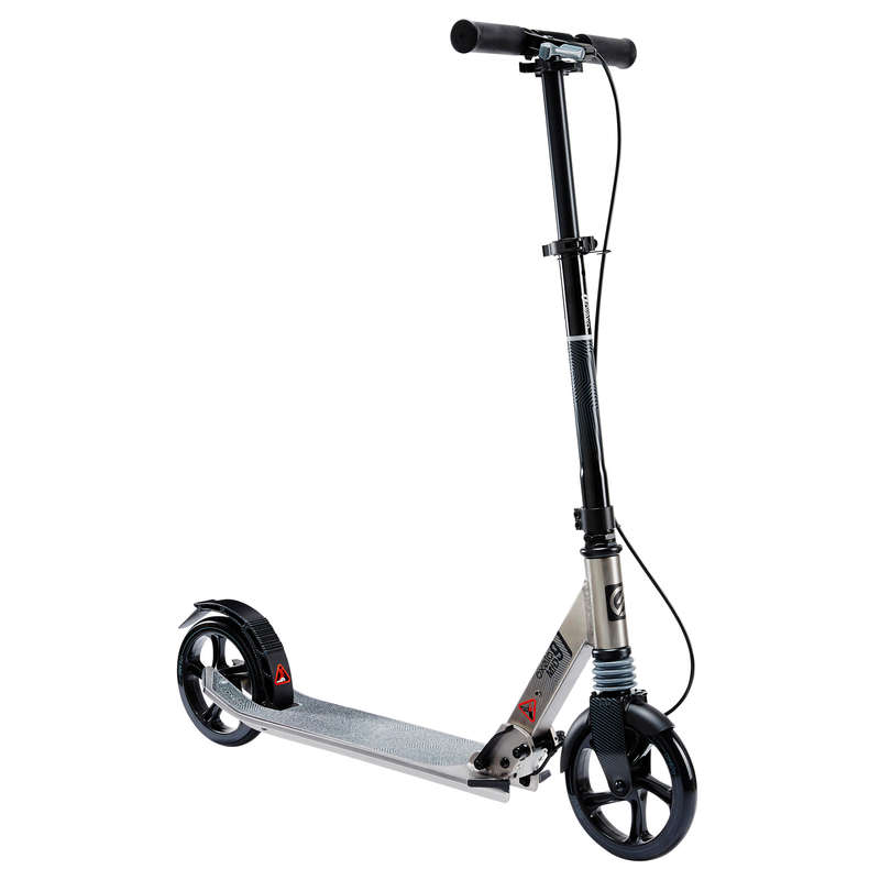 CHILD SCOOTERS Scootering - Mid 9 Scooter - Grey OXELO - Scooters