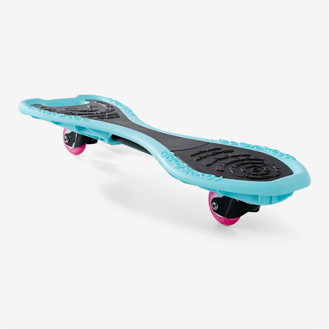 KIDS WAVEBOARD WB100 with Flashing light wheels BLUE/BLACK