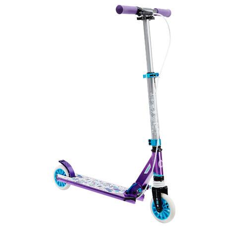 trottinette enfant mid5 avec frein au guidon et suspension violette oxelo. Black Bedroom Furniture Sets. Home Design Ideas