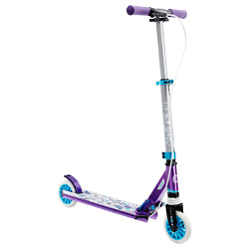 Mid 5 【附煞車把手】避震 折疊收納兒童滑板車- 紫色