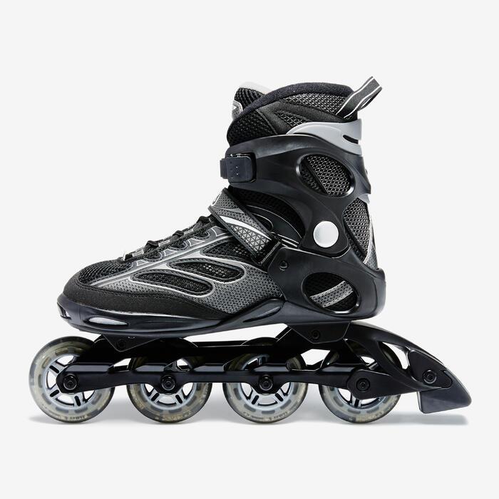 inline skates inliner fitness master herren schwarz grau. Black Bedroom Furniture Sets. Home Design Ideas