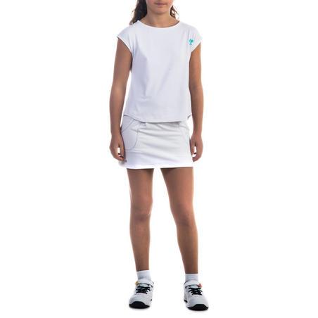 Дівчача спідниця з кишенями 500 - Біла
