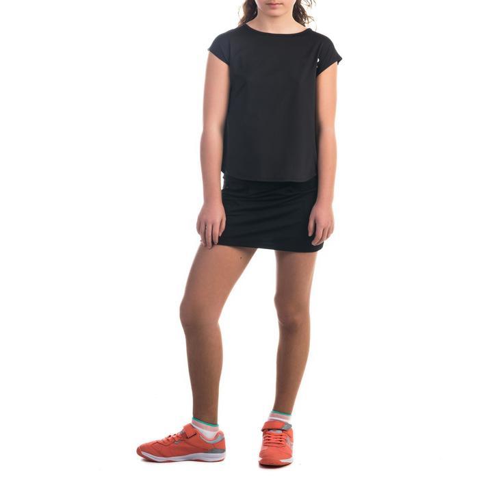 T-shirt 500 meisjes zwart