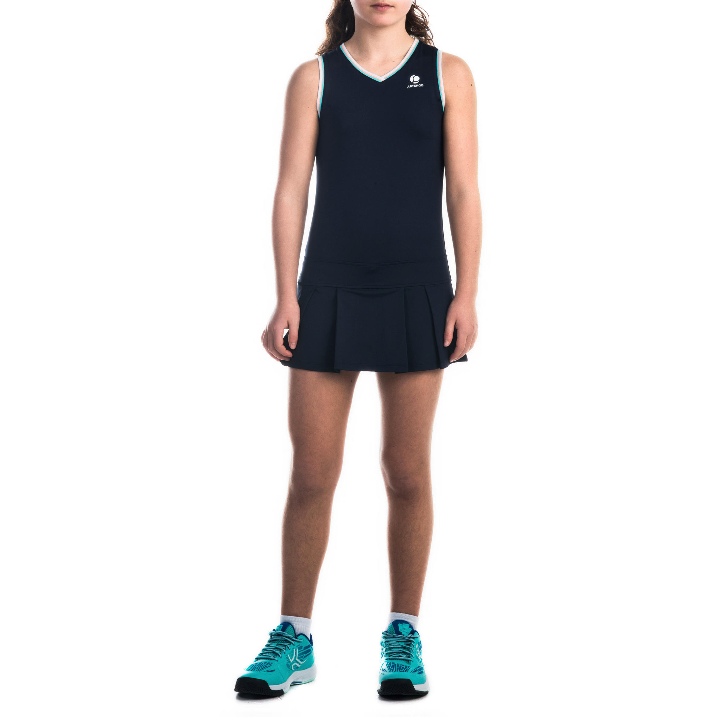 500 Girls' Dress - Navy Blue