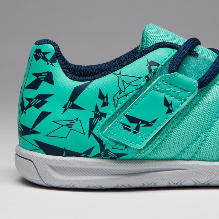 Chaussure de futsal enfant CLR 500 à scratch bleue - 1333734