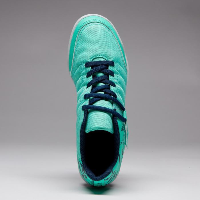 Chaussure de futsal enfant CLR 500 à scratch bleue - 1333741