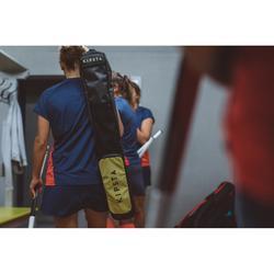 Hockeyschläger-Tasche FH100 Feldhockey mittelgroß grau/gelb