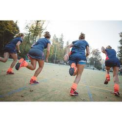 Chaussures de hockey sur gazon femme intensité moyenne FH500 rose
