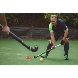 Gant de hockey sur gazon 1 phalange intensité faible enfant adulte FH100 noir
