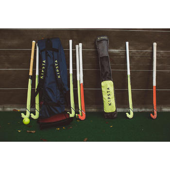 Veldhockey tas groot FH500 blauw en geel