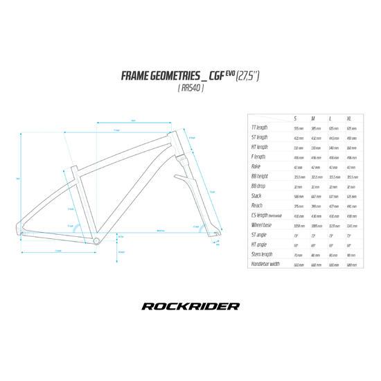 """VTT ROCKRIDER 540 FEMME BLANC 27,5"""""""