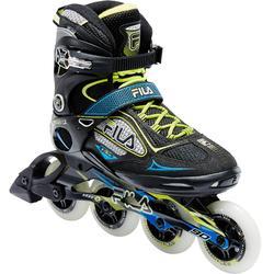Inline-Skates Inliner Fitness Primo LX 90 Herren schwarz/blau/gelb