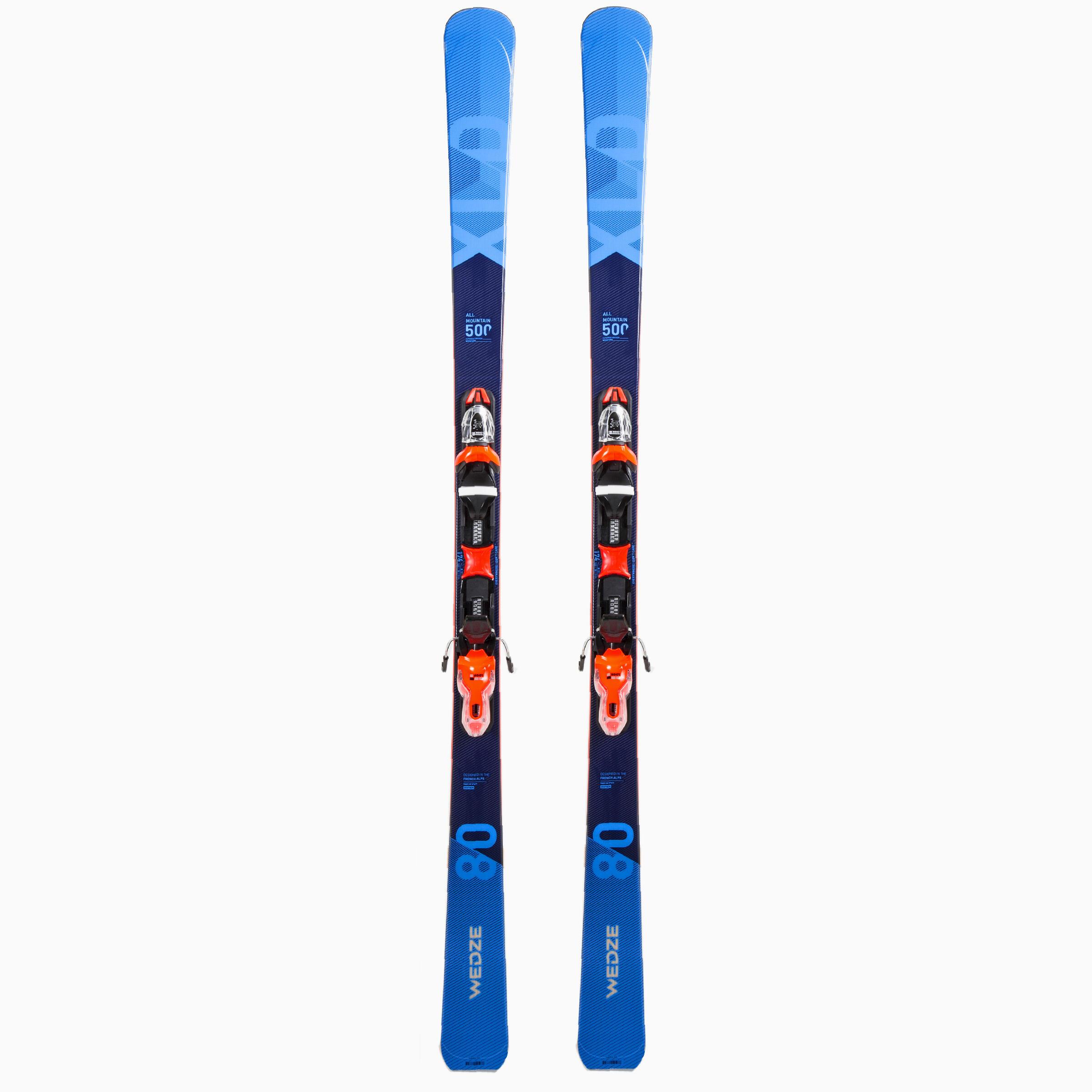 Ski Toute montagne Homme XLD500 bleu orange