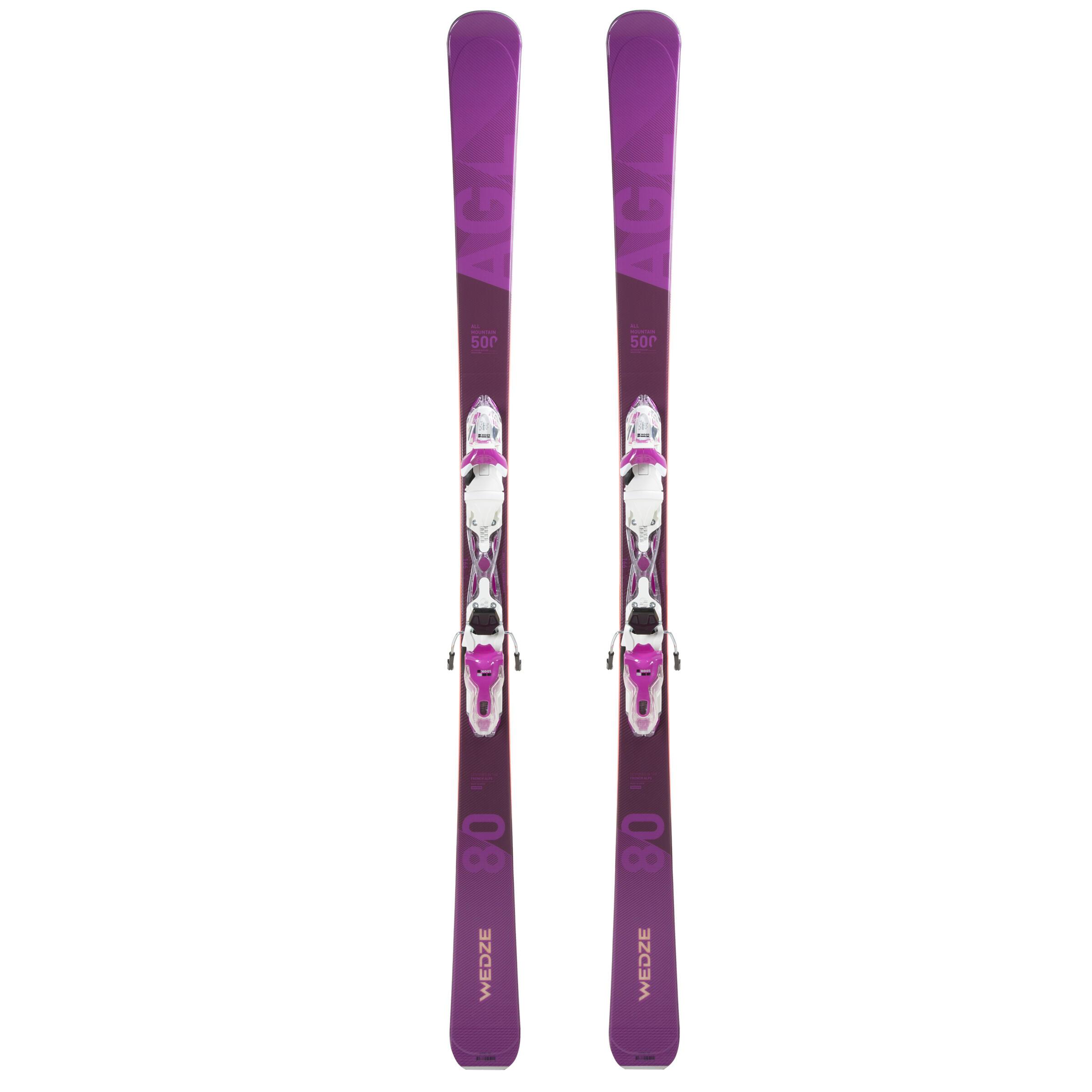 Ski Toute montagne Femme AGL500 Violet