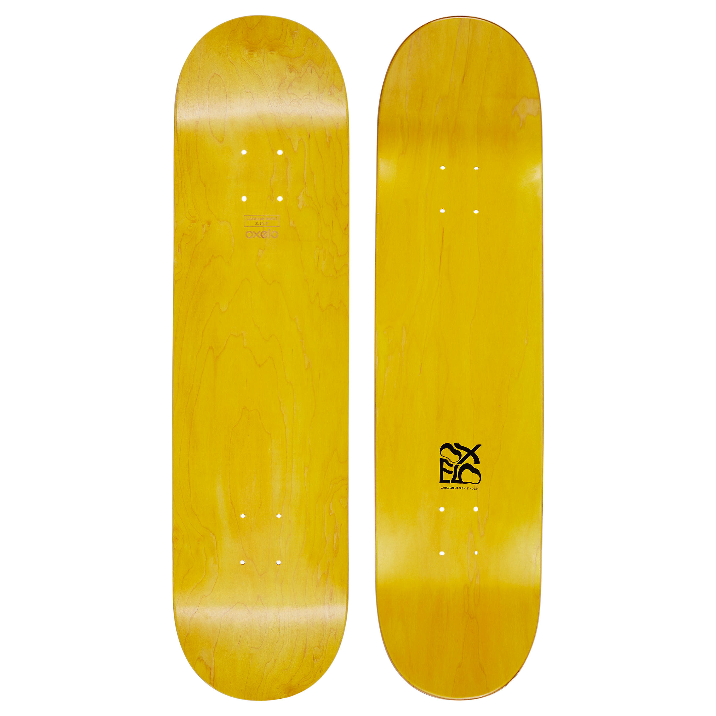 Team Nude 8 Skateboard Deck - Yellow""