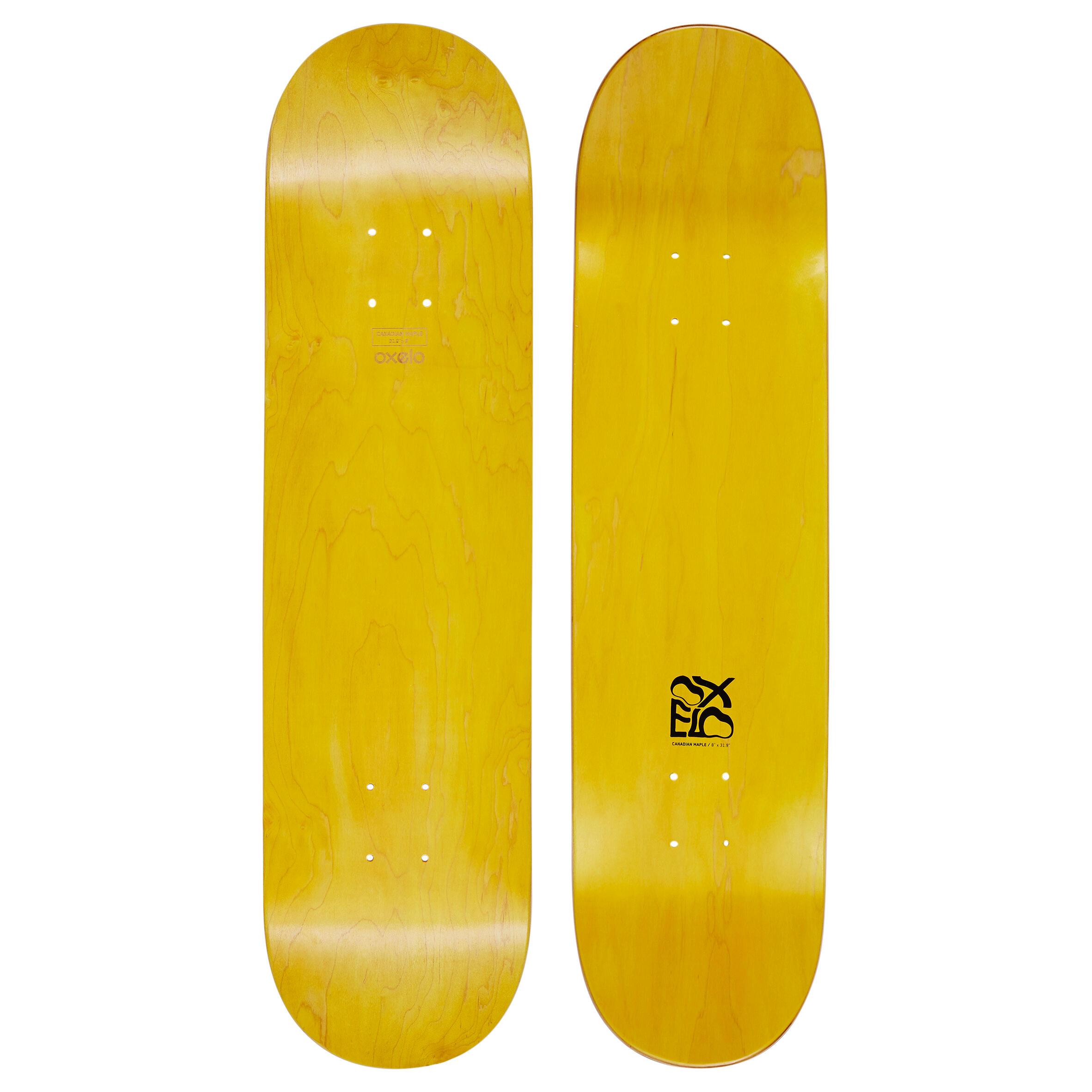"Team Nude 8"" Skateboard Deck - Yellow"