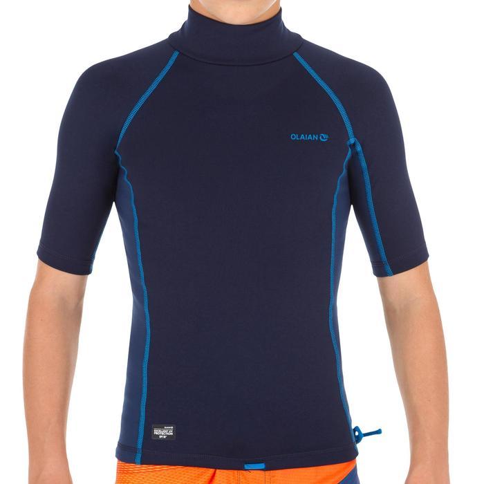 tee shirt anti UV surf top thermique polaire manches courtes enfant - 1333934