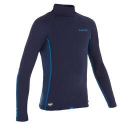 Thermo-Shirt langarm Surfen UV-Schutz Fleece Kinder