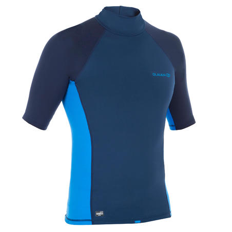 900 Men's Short Sleeve Thermal fleece UV Protection surfing Top T-Shirt - Blue