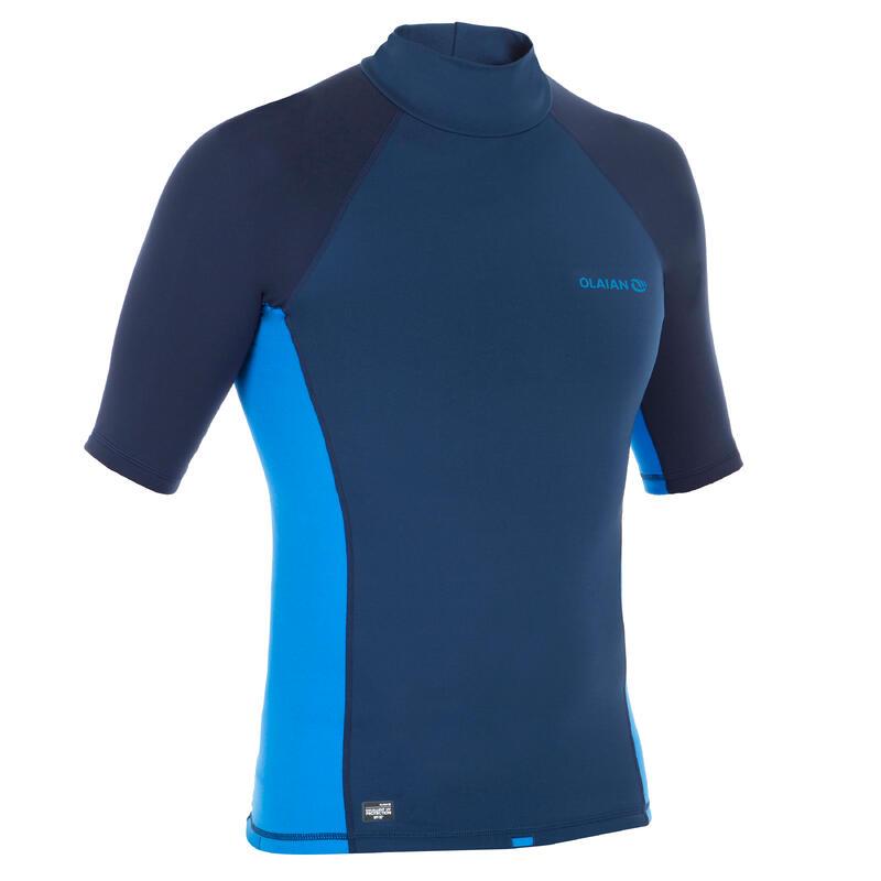 styles de mode bonne qualité qualité tee shirt anti UV surf top 900 Thermique polaire Manches Courtes Homme Bleu