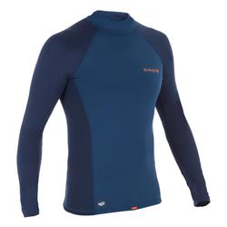 900 Men's long-sleeved thermal fleece UV-protection surfing top T-Shirt - Blue