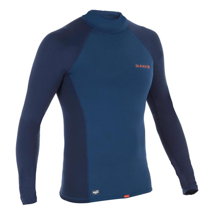 Tee shirt anti UV surf top 900 thermique polaire Manches Longues Homme Bleu - 1333948