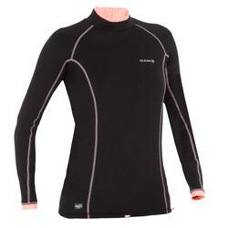 T-Shirt anti-UV surf haut 900 Thermique polaire Manches Longues Femme Noir