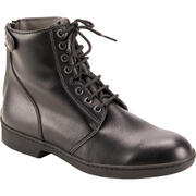 500 Adult Lace-Up Horse Riding Jodhpur Boots - Black