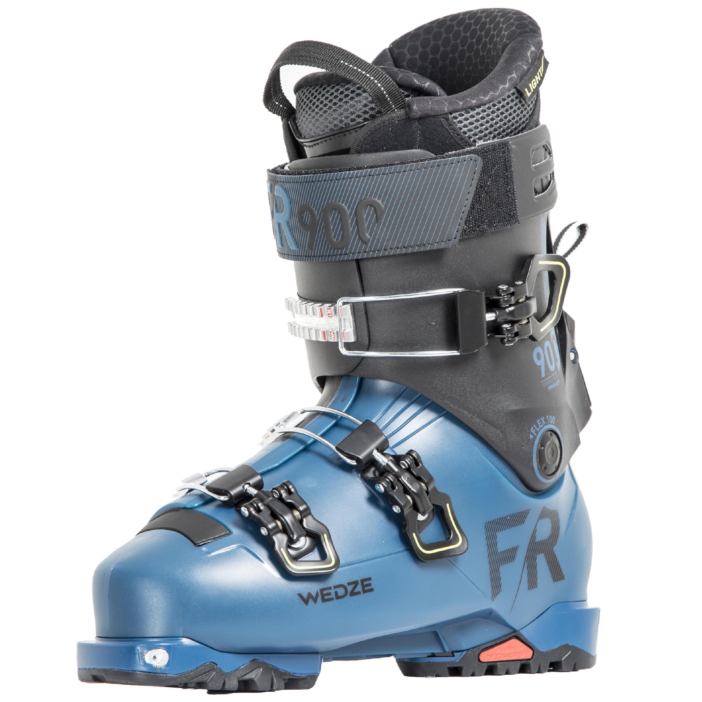 Bottes de ski tout-terrain randonnée adulte FIT 900 bleues