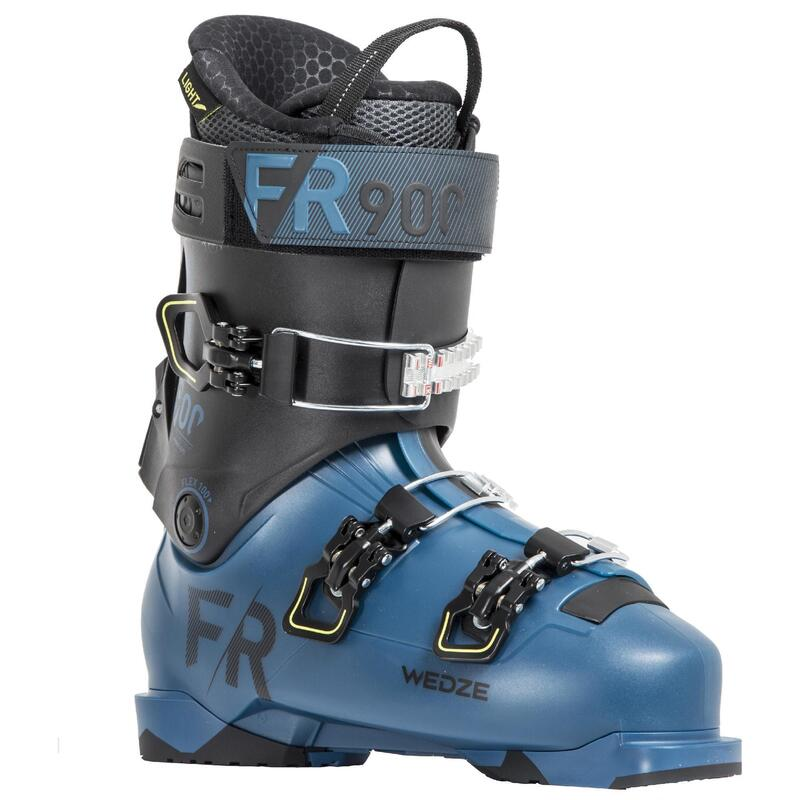Botas esquí HOMBRE, WED'ZE FR900 LT, flex100, ALPINO, azul