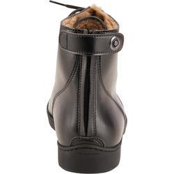 Warme jodhpurs met veters voor volwassenen 500 Warm zwart