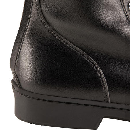 Bottes à lacets chaudes équitation adulte 500 CHAUDES noir