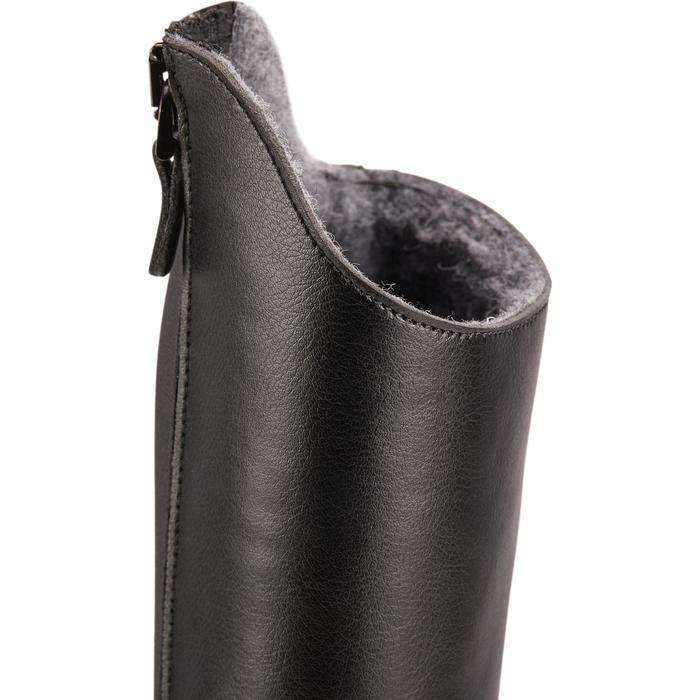Winter-Reitstiefel LB 500 Erwachsene schwarz